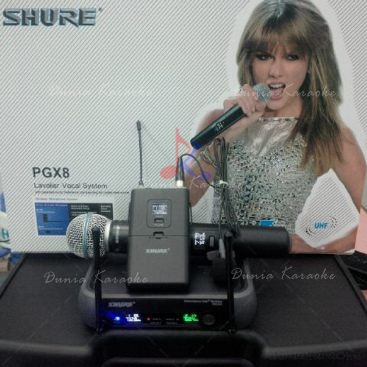 Microphone Wireless Shure PGX 8 ( H+L ) Digital Display