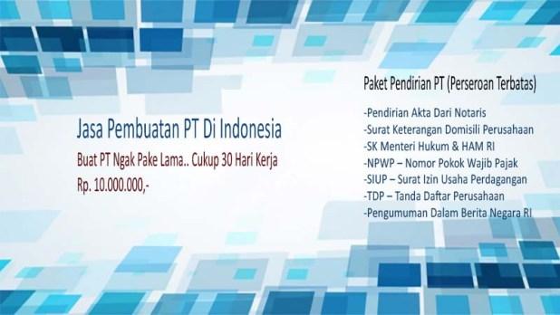 Jasa Buat PT Di Indonesia Terpercaya