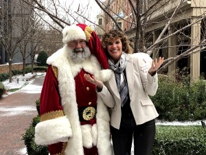 Santa Bob Saintsing and Tricia Dunlap