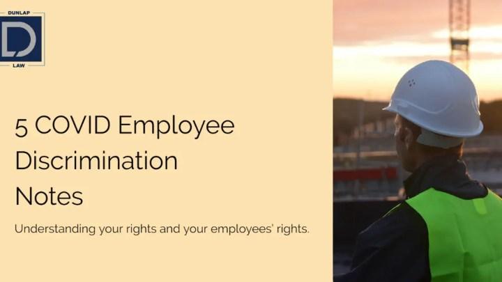 5 Employee Discrimination Notes