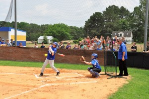 Baseball-softball game ends in tie