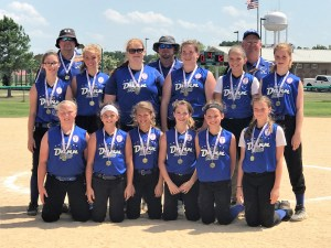 No-hitter helps Dunn Ponytails to district championship