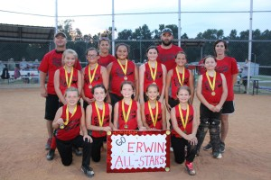 Erwin takes 10-U, Western wins 12-U in Tar Heel district softball