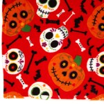 Dunnes Stores Orange Halloween Fleece Throw