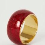 Dunnes Stores Red Glitter Napkin Rings