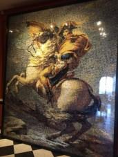 Bonaparte franchissant les Alpes, 96768 briques, 200 heures de travail