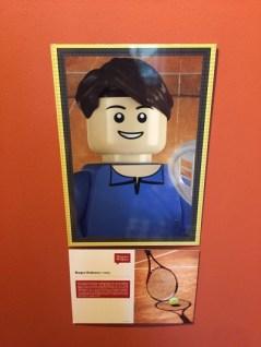 Et Roger Federer version LEGO ®