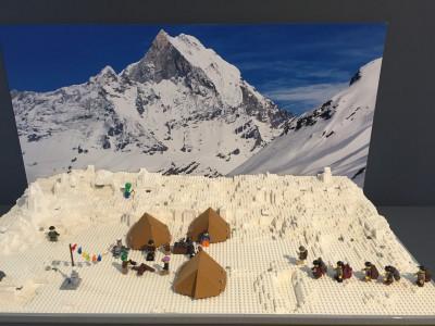 Le campement des alpinistes suisses dans l'Himalaya