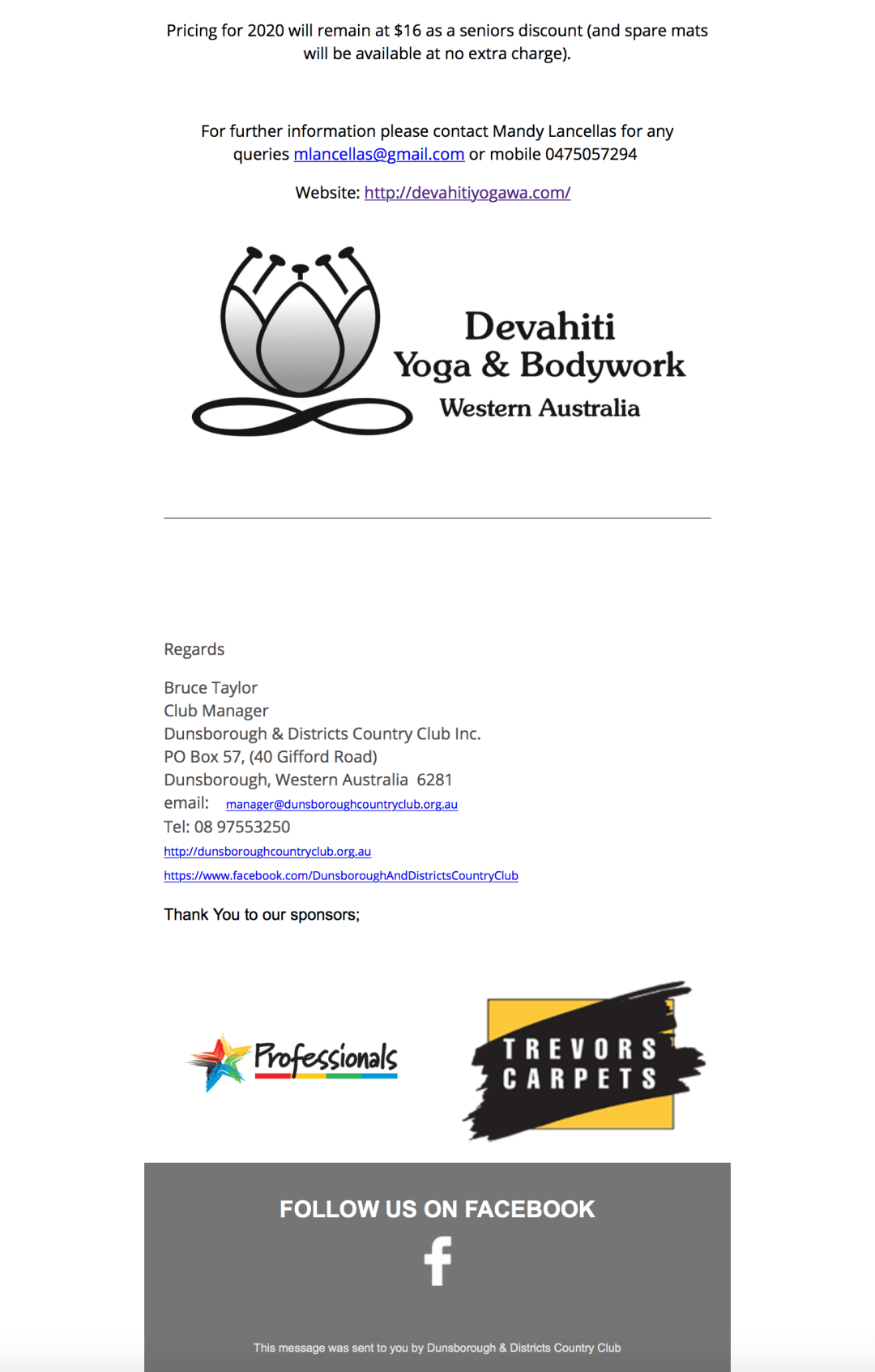 Dunsborough Country Club Newsletter