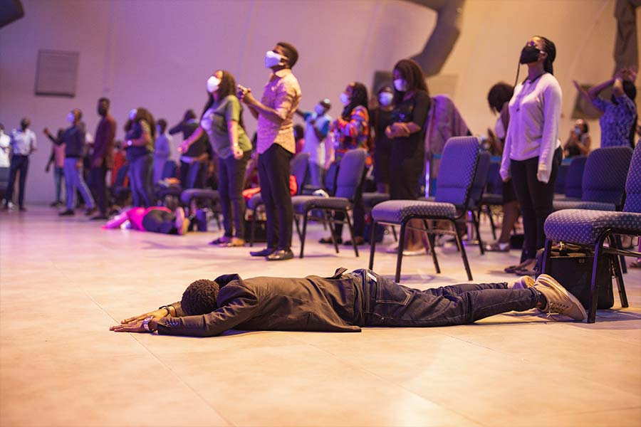 Moved by the spirit at a Dunsin Oyekan concert