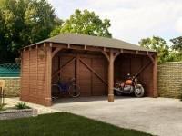 Atlas Double Shallow Carport | Garages
