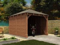 Olympus Single Wooden Carport W3.2m x D4.2m | Garages