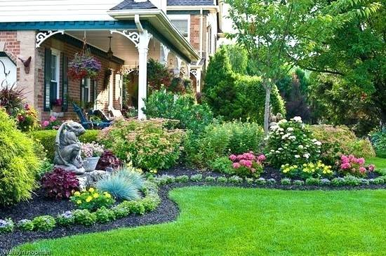Vegetable Garden In Fall Wallpaper Landscape Flower Beds Beautiful Garden Design And Yard