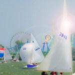 Lake Erie Sail Cedar Point by Robert Mullenix / Dunwanderin Digital Studio