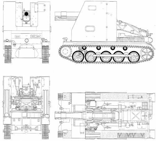 150 mm sIG 33 (Sf) auf Panzerkampfwagen I Ausf B (A panzer