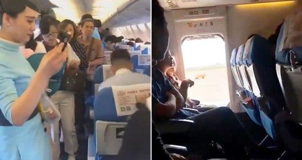 خاتون نےتازہ ہوا کیلئےاڑتے جہاز کادروازہ کھول دیا