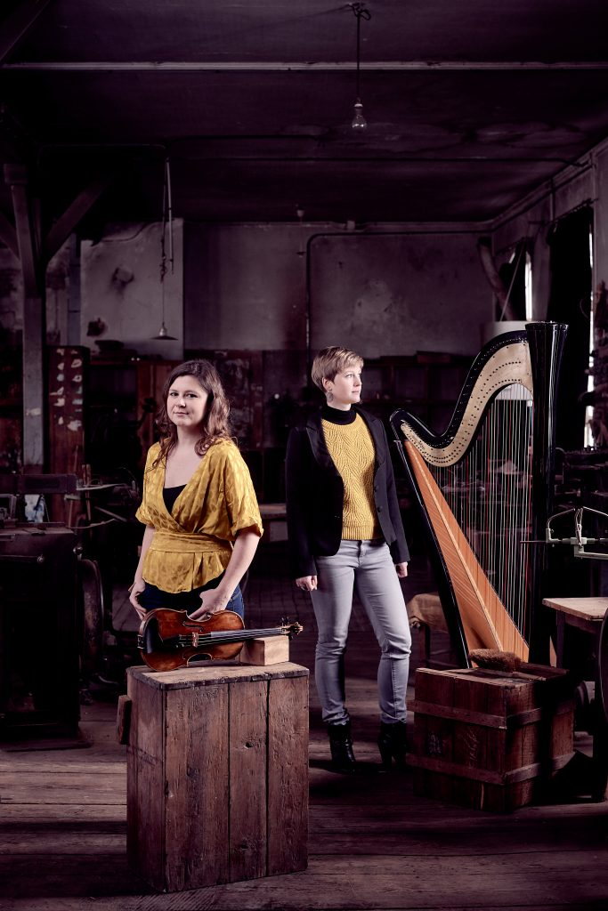 Duo-ambre Anne Lombard Fanny Fuchs harpe violon