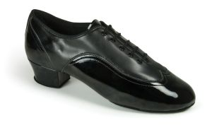 Jones - Black Calf & Black Patent - 1
