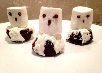 Spooky boo ghost brownies, quick recipe
