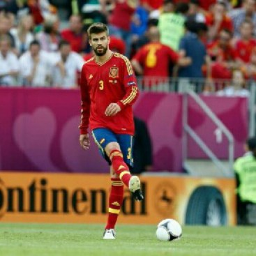 Gerard Pique zdjęcie z meczu Hiszpania - Włochy w Gdańsku na Euro2012