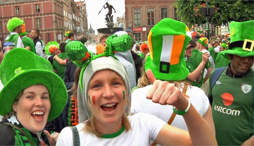 Irlandczycy w Gdańsku na Euro2012 - Kibice z Irlandii opanowali Gdańsk