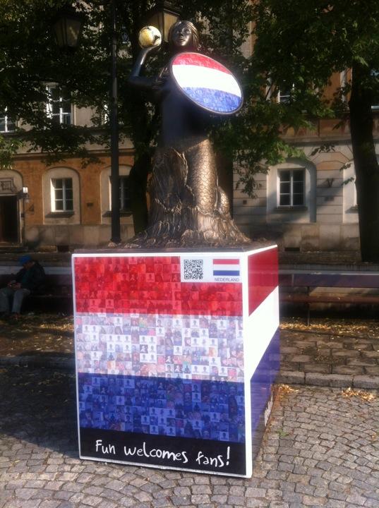 Holandia Rynek Nowego Miasta Warszawa Narodowe Warszawskie Syrenki Euro2012