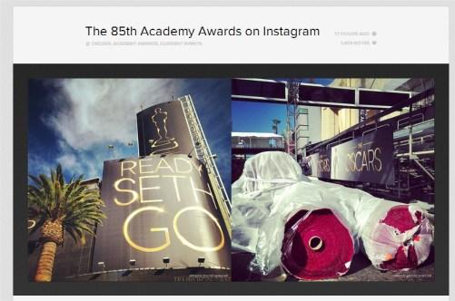 Instagram Blog zachęca do obserwowania 85. Oscars Awards na Instagramie