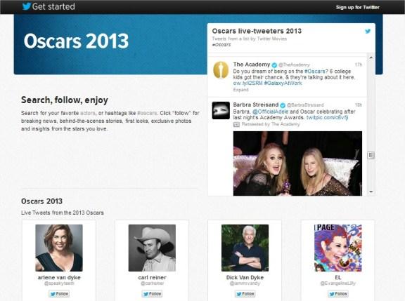 Twitter blog oscars 2013 tweet gwiazdy