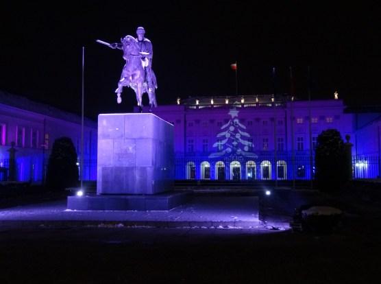 Warszawa Boże Narodzenie 2012  iluminacja Warszawy na Krakowskim Przedmieściu