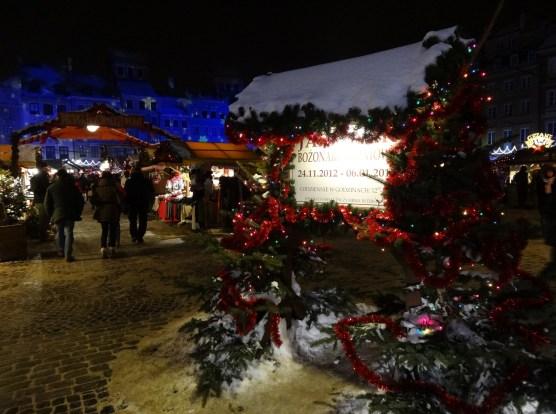 Warszawa Boże Narodzenie 2012  iluminacja Warszawy Jarmark Bożonarodzeniowy na Rynku Starego Miasta
