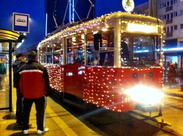 Wigilijny tramwaj w Gdańsku  #zkmgdansk