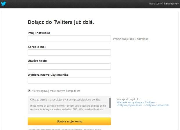 jak zalozyc twittera profil na twitterze konfiguracja