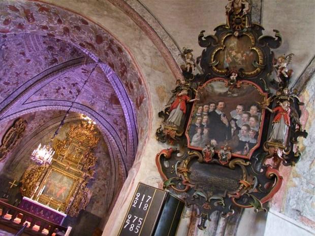 ronneby-blekinge-kosciol-srediowiecze-freski-malowidla-sciany-Heliga-Kors-Kyrka-zwiedzanie-wycieczka