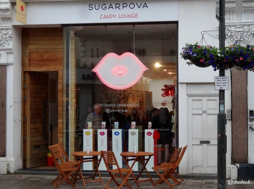 maria sharapova sklep z cukierkami sugarpova londyn wimbledon