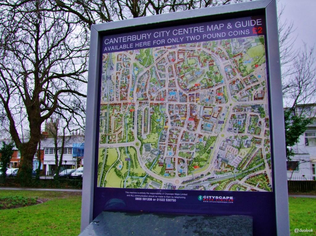 atrakcje Canterbury mapa
