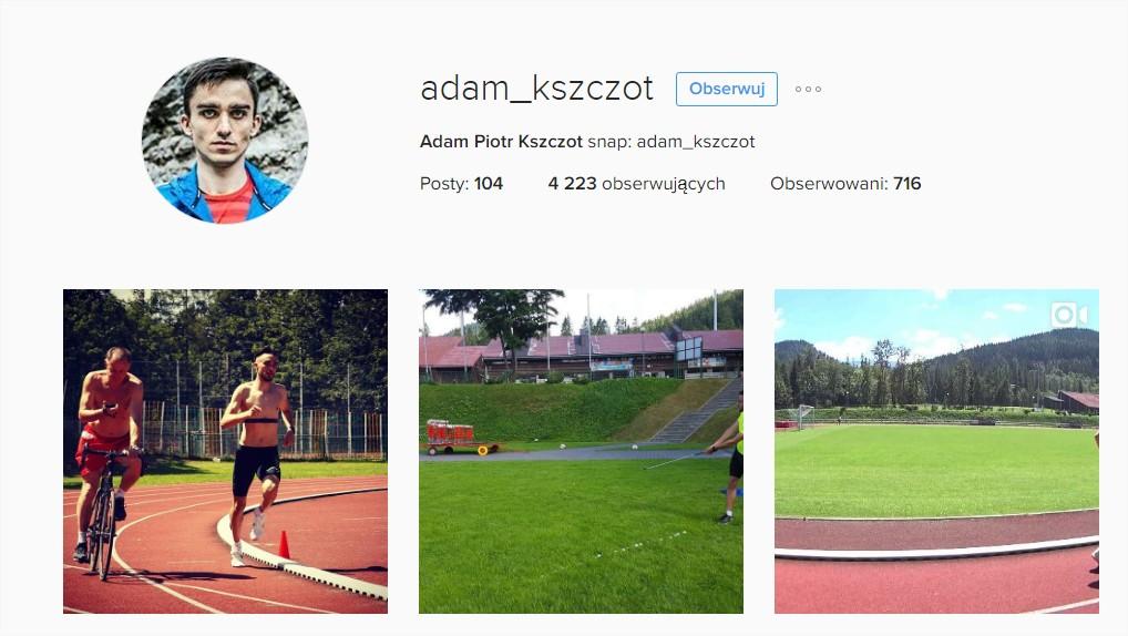 Adam Kszczot Instagram