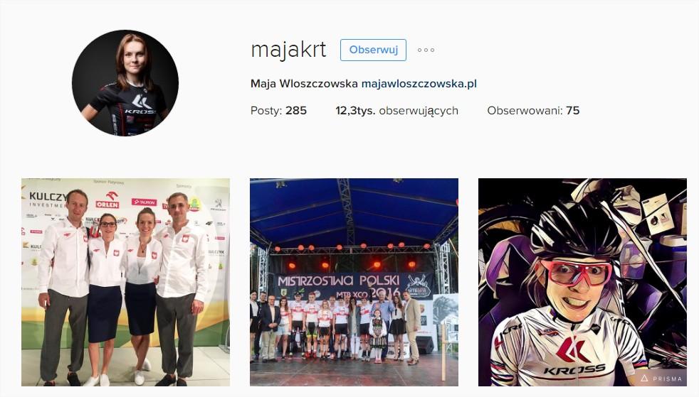 Instagram Maja Włoszczowska