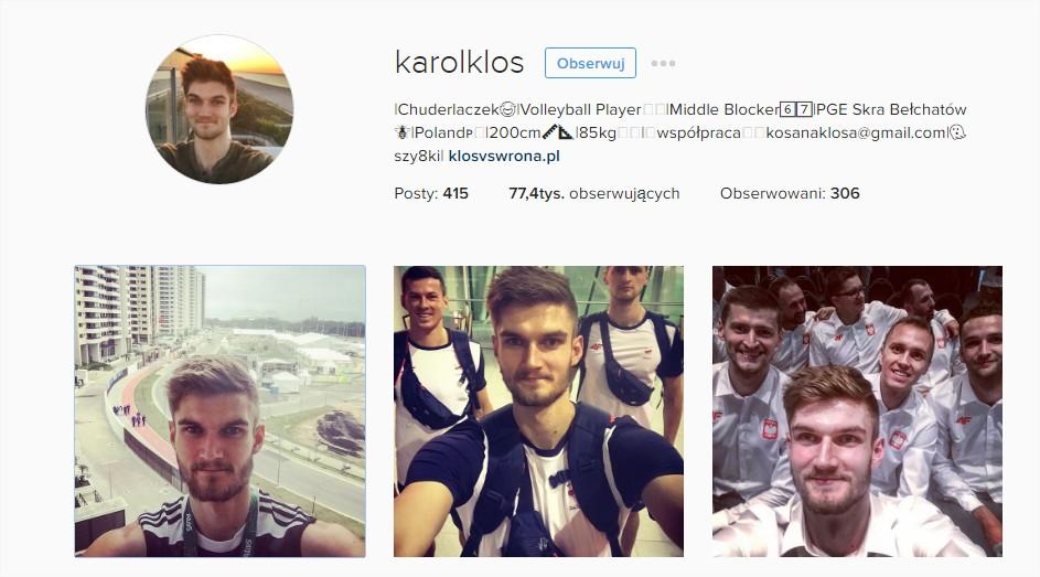 Sportowcy w Rio de Janeiro 2016 na Instagramie