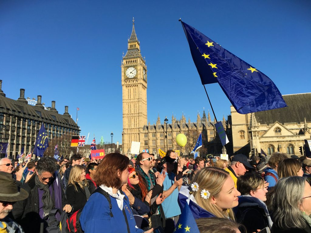 Unite for Europe BREXIT protest w Londynie
