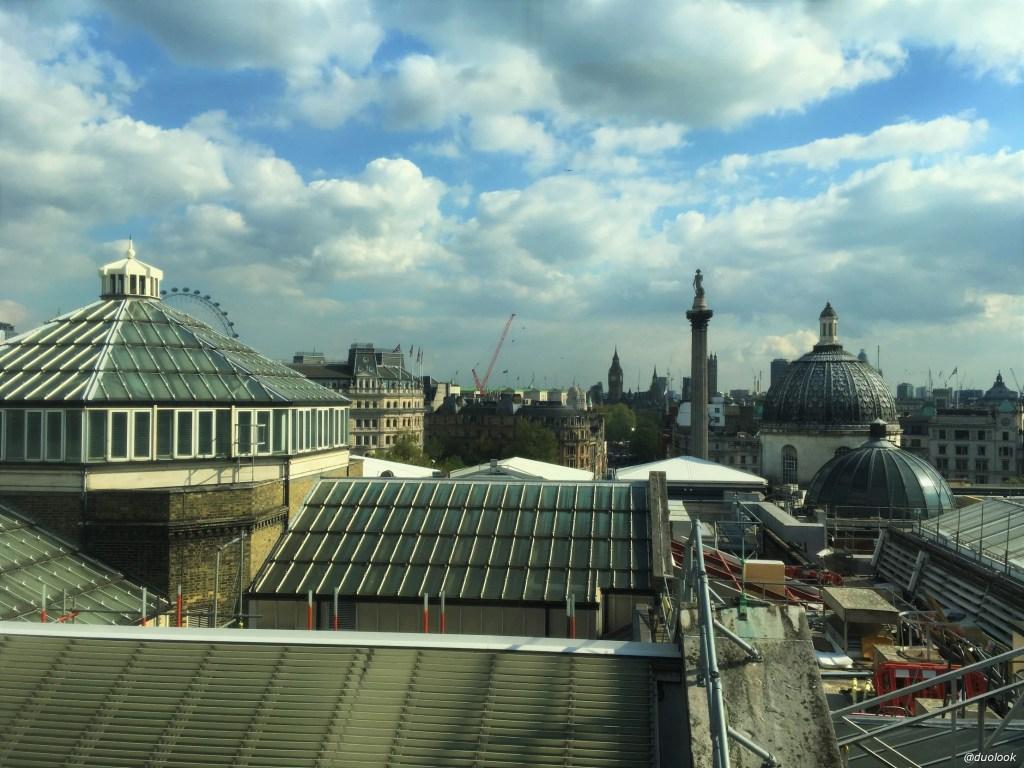 Panorama Londynu z restauracji