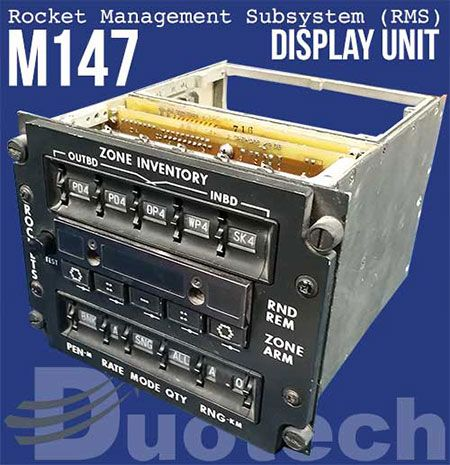 Fig. 4 M147 Rocket Management System Display 12011866-1