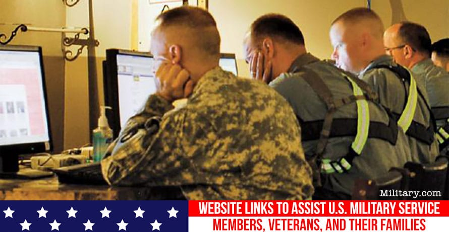 Website Links to Assist U.S. Military Service Members, Veterans, and Their Families