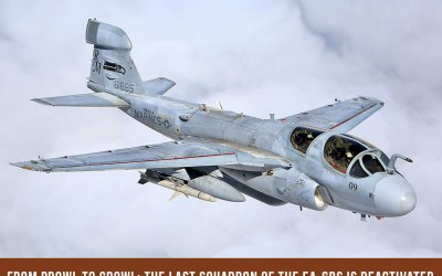 From Prowl to Growl: The Last Squadron of the EA-6Bs is Deactivated