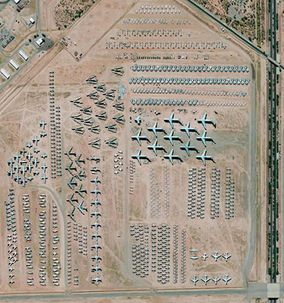 the boneyard looks more like a giant air museum