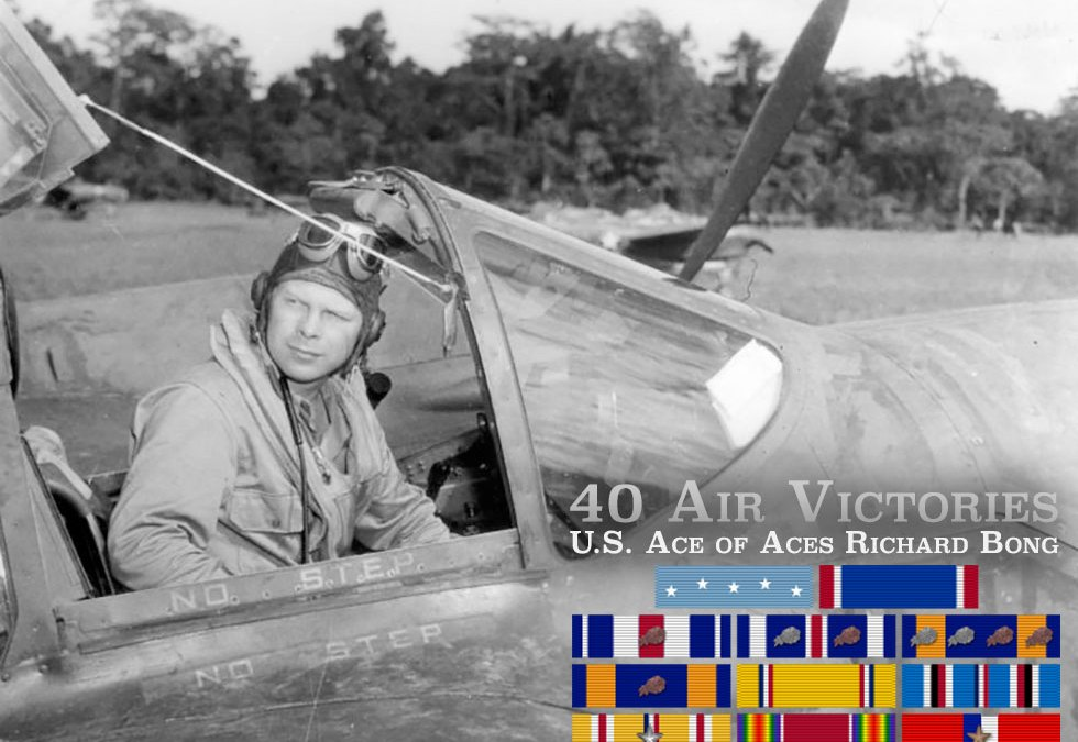 40 Air Victories U.S. Ace of Aces Richard Bong P-38 Lightning