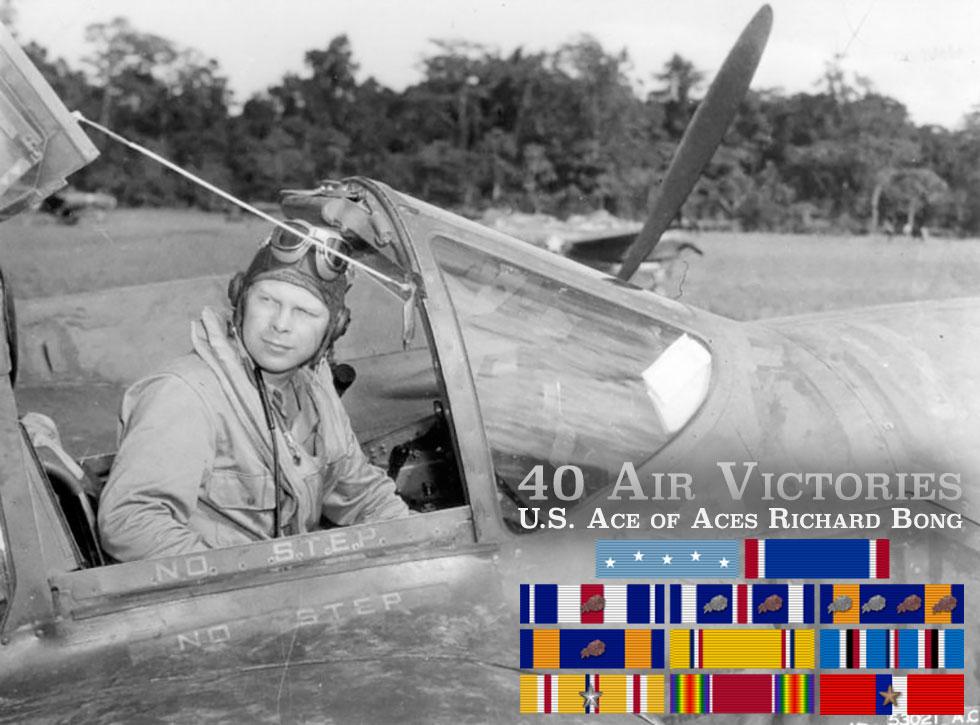 40 Air Victories U.S. Ace of Aces Richard Bong P-38 Lightning