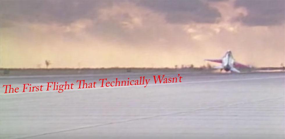 YF-16 First Unofficial Flight Phil Oestricher