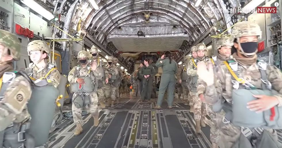 All Female C-17 Flight Crew and Parachutists for Women's History Month