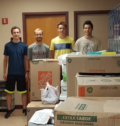 Jack and friends dropping off his donation at DuPagePads