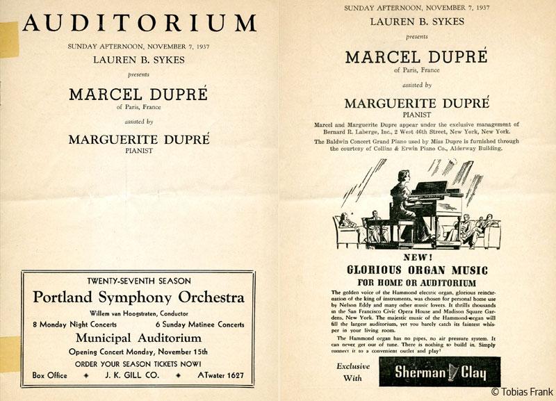 Dupré - l'organiste de concert